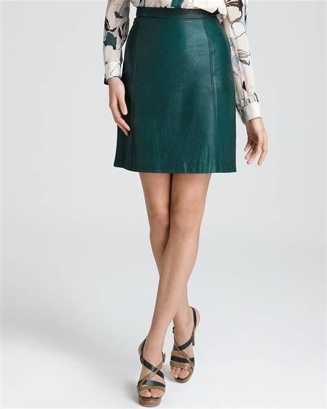 dkny a line leather skirt bloomingdale s