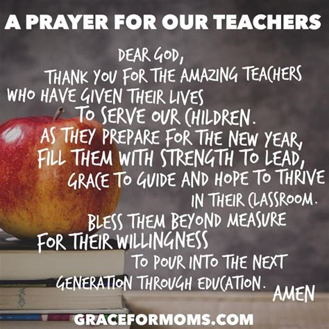 best prayers for welcoming a new year back to school prayer for teachers praying for teachers school prayer