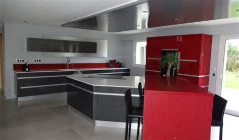 d馗o cuisine grise cuisine grise laque meuble de cuisine gris pas cher with