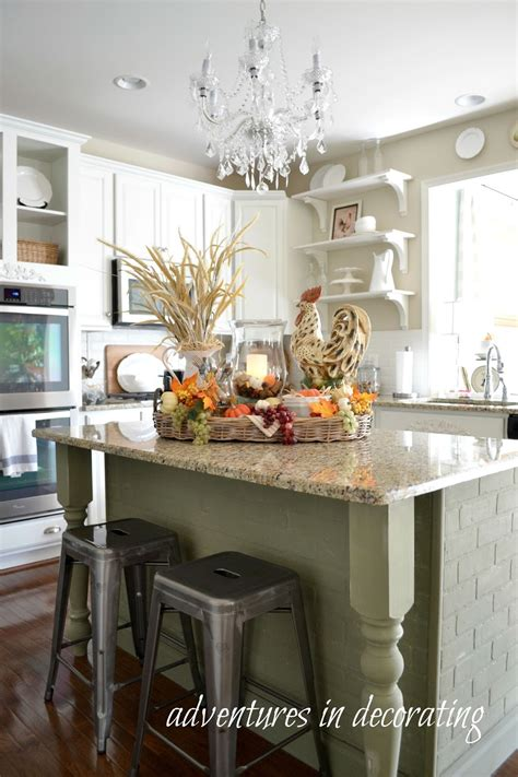 decorate kitchen island adventures in decorating our 2015 fall kitchen