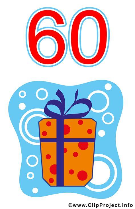kostenlose clip geschenk zum 60 geburtstag clipart gratis