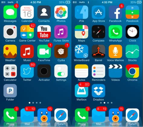 themes for jailbreak iphone 5 image gallery ios 7 jailbreak themes