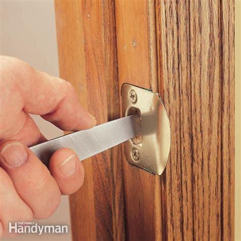 adjusting  door strike plate  family handyman
