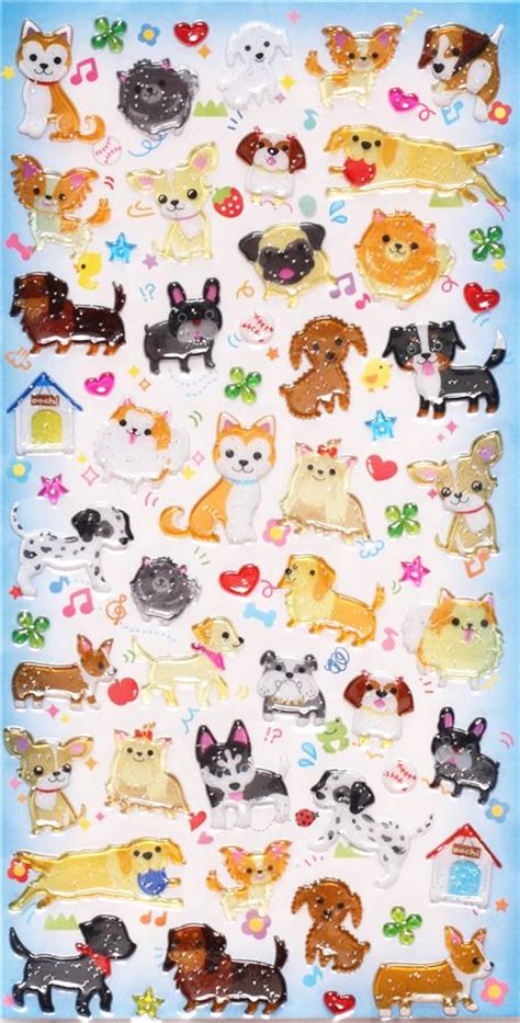 Cute Animal Mugs pet dog hard 3d stickers q lia japan animal stickers