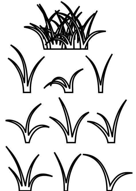 coloring page of grass grass clip art clipart best