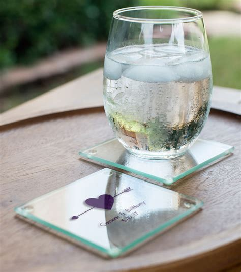 Wedding Favors Coasters by Personalized Glass Coasters