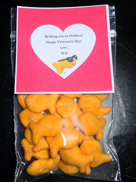 valentines gifts for students be different act normal 8 goldfish cracker ideas