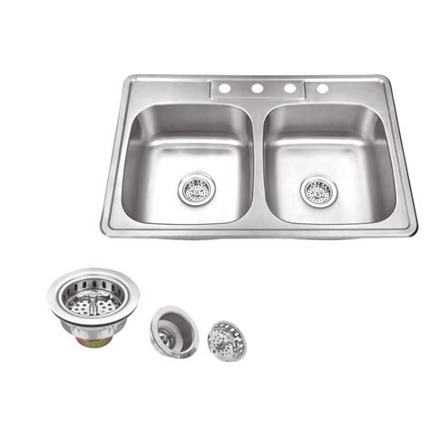 stainless steel sink care maintenance glacier bay drop in stainless steel 33 in 4