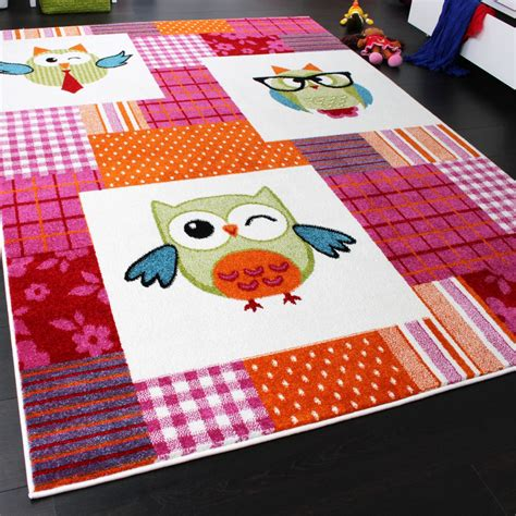 Rug Trendy Owls Multicoloured Magenta