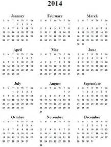 Calendar 2014 Template Printable by 2014 Printable Calendar Templates