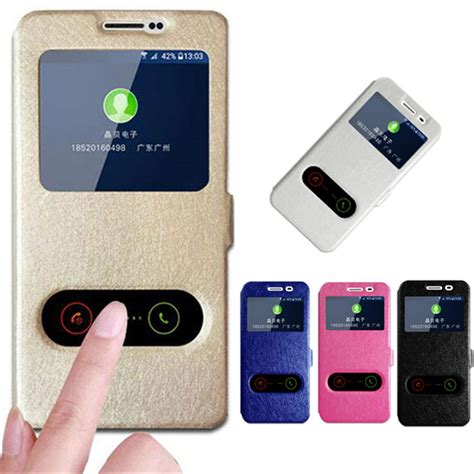 Flipcover Ume Huawei Y3 Flipcase Flip Cover Huawei Y3 for huawei y3 ii answer view window flip stand pu leather cover for huawei lua l21