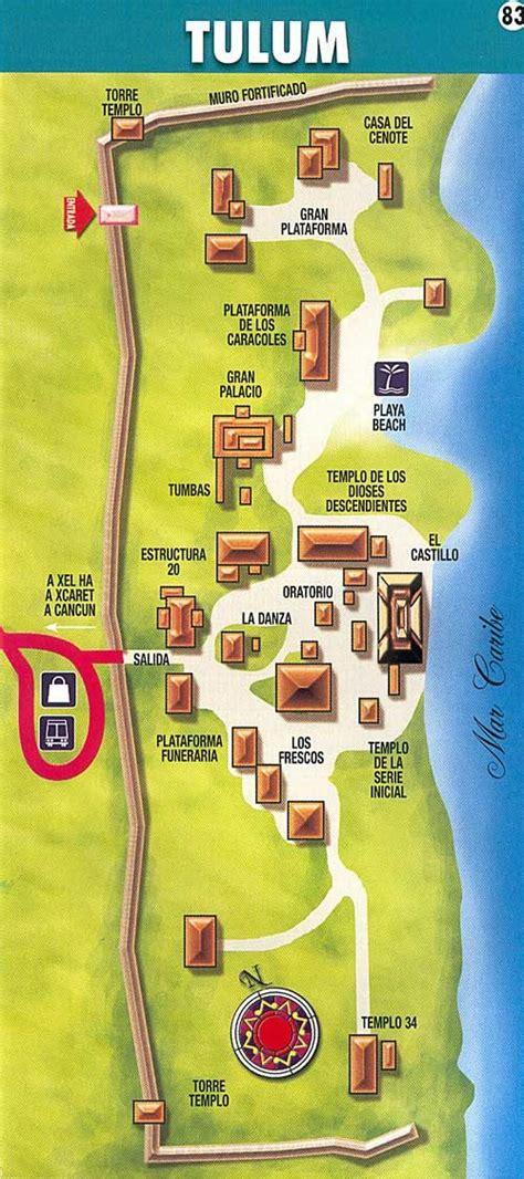 tulum mexico map mapa ruinas de tulum mexico en la piel