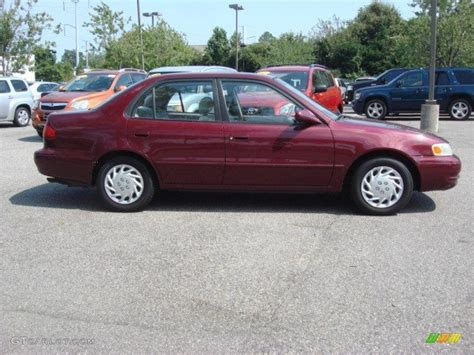 1998 Toyota Corolla Change Ruby Pearl Metallic 1998 Toyota Corolla Le Exterior