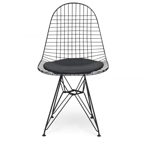 Wire Chair by Eames Inspired Style All Black Dkr Wire Chair Eames