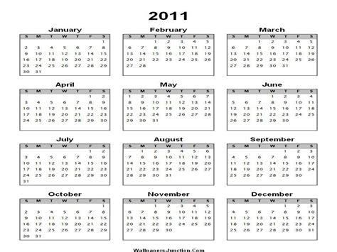 2011 Calendar Template by 2011 Calendar Template One Page Images