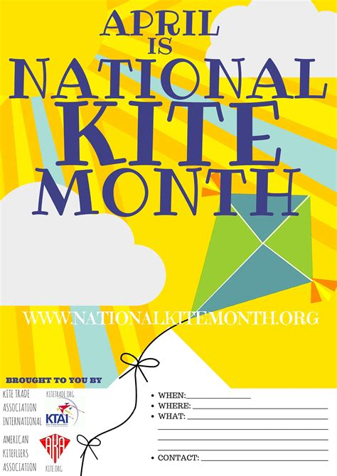national month national kite month posters
