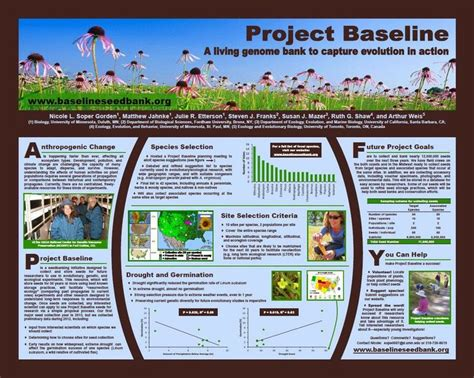 design poster project project baseline a living genome bank to capture