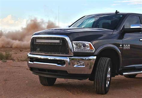 ram 2500 light bar radius led grilles featuring rigid curved led light bars