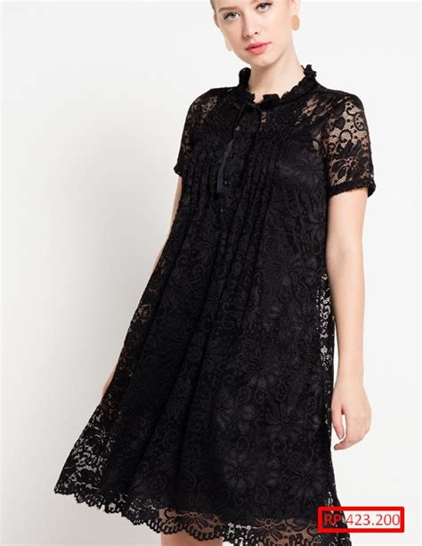 Dress Hitam Ar 15 baju brokat hitam teranyar 2018 modis dan modern fashion
