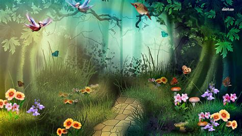 Disney Frozen Wall Mural forest wallpaper and background 1366x768 id 479946