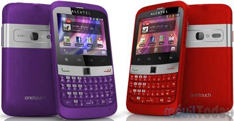 imagenes para celular tactil alcatel alcatel une pantalla t 225 ctil y al teclado qwerty en sus