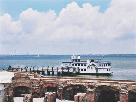 charleston boat tours fort sumter fort sumpter as you approach on harbor tour boat