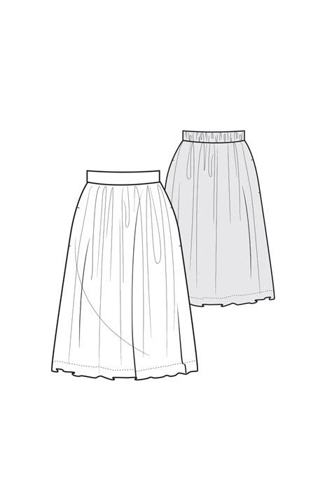 skirt template easy gathered skirt sewing pattern pattern runway
