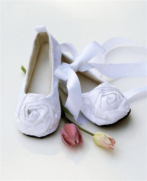 ivory ballet slippers for toddlers toddler flower shoes white silver black ivory