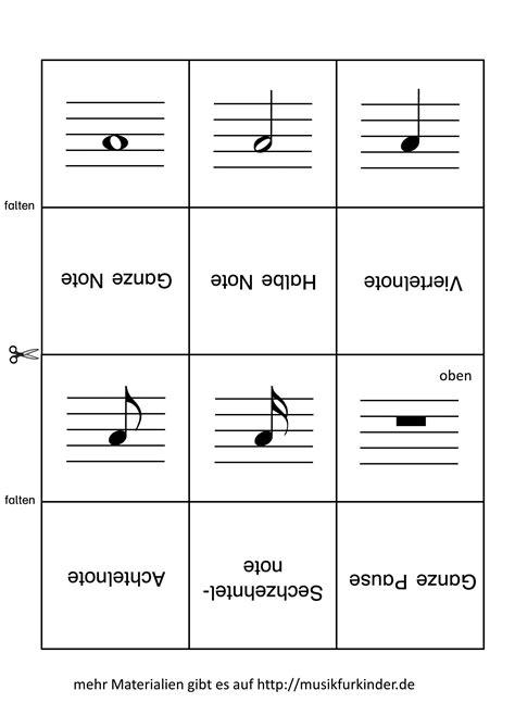 Vorlage Word Memory notenwerte memory lernkarten musik f 252 r kinder