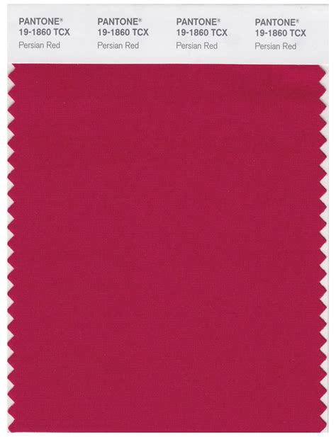 pantone smart   tcx color swatch card persian red