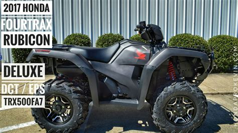 2017 honda rubicon review 2017 honda foreman rubicon 500 deluxe dct eps review of