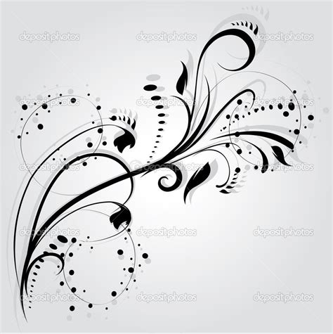 tattoo designs vector swirly designs floral silhouette element for