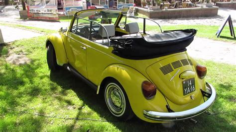 yellow volkswagen convertible vw beetle convertible yellow nuenen 2013