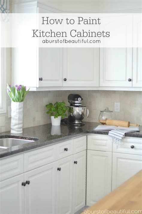 How To Paint A Kitchen Cabinet | how to paint kitchen cabinets a burst of beautiful