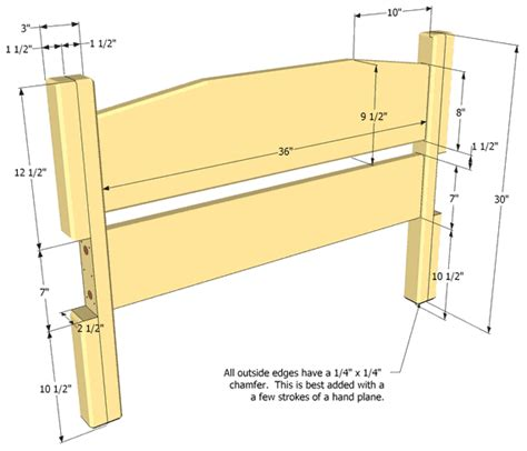 headboard dimensions twin size bed plan