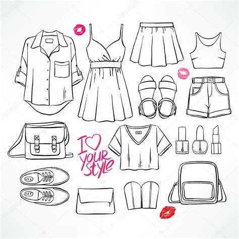 imagenes de ropa en ingles para colorear dibujo de ropa de verano archivo im 225 genes vectoriales