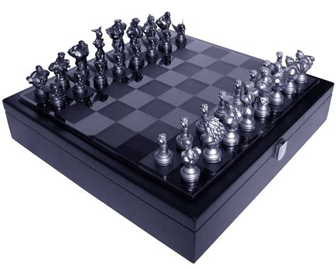 futuristic chess set street fight 25th anniversary chess set sonic booming
