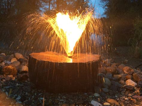 water fountain fire pit gentlemint reserve