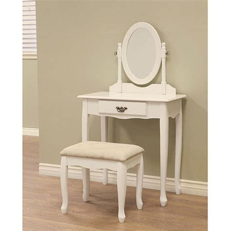Dressing Table Vanity Walmart by Costway White Vanity Wood Makeup Dressing Table Stool Set
