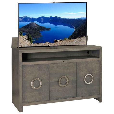 tv lift cabinet enclave solid wood tv lift with storage