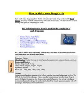medication card template medication card template 10 free printable word pdf