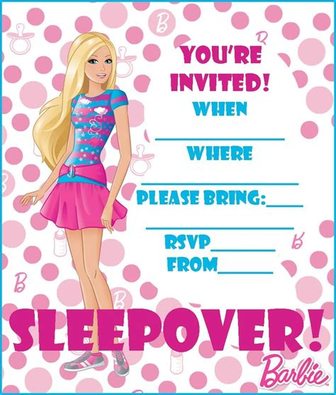 free printable birthday invitations barbie free barbie coloring pages and free printable party