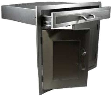 Bbq Doors And Drawers by Pcm Bbq Island 30 226 Combo Unit 1 Drawer On Top 2 Doors On