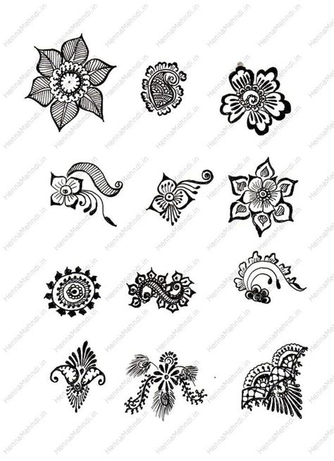 henna design worksheets henna designs for beginners step by step google search