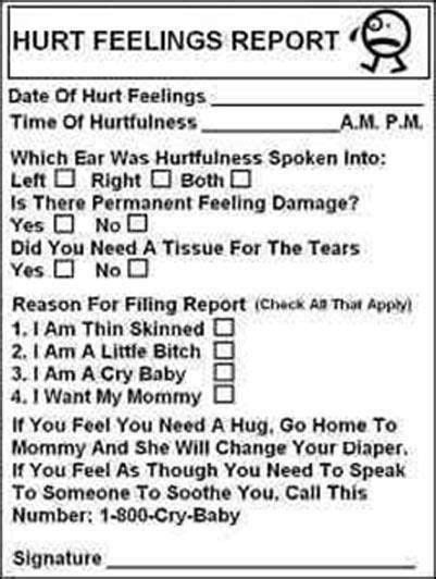 hurt feelings report template the world s catalog of ideas