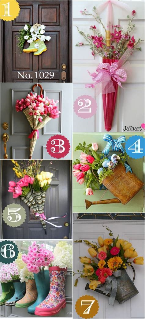 diy spring decorating ideas spring door decor ideas diy craft s