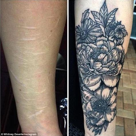 tattoos over self harm scars brisbane tattooist develle offers to cover