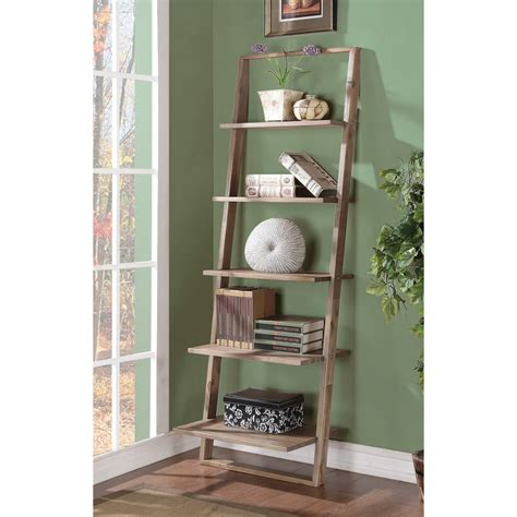 Leaning Ladder Bookcase Leaning Ladder Bookshelf Homesfeed