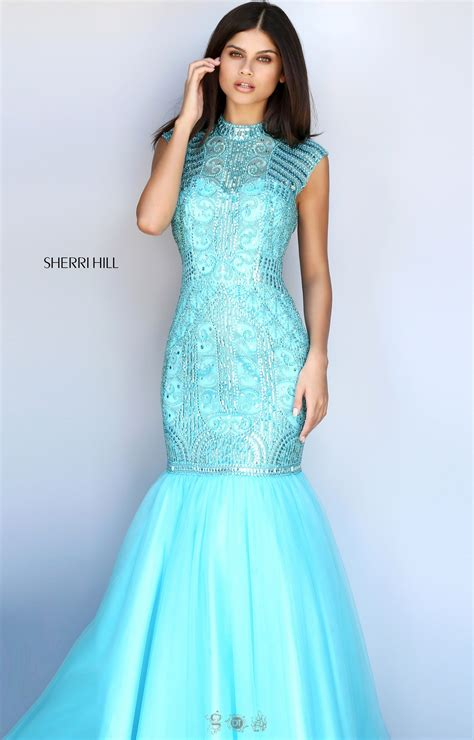 sherri hill beaded prom dress sherri hill 51174 fully beaded cap sleeve mermaid with