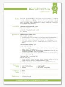 modern word resume templates modern microsoft word resume template liliana by inkpower